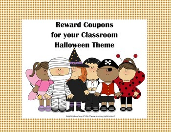 Classroom Management Reward Coupons-Halloween Theme