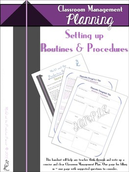 Classroom Management : Routines and Procedures Form