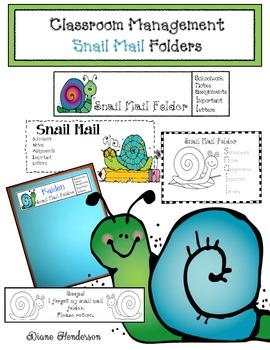 Classroom Management Snail Mail Take Home Folders
