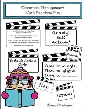 Classroom Management Verb Practice Fun