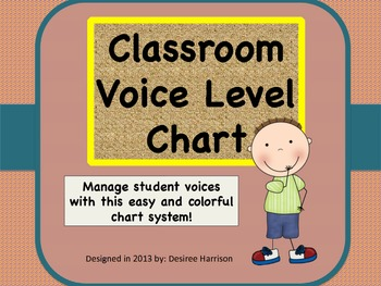 {Classroom Management} Voice Level Chart