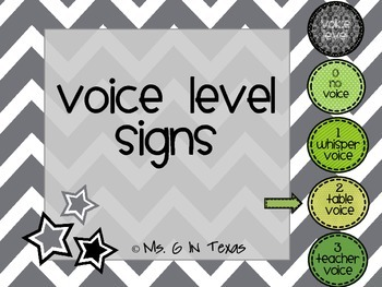 Classroom Management- Green Voice Level Chart
