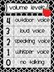 Classroom Management Volume Level Charts apple chevron str