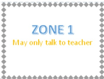 Classroom Management - Zones Blue and Orange