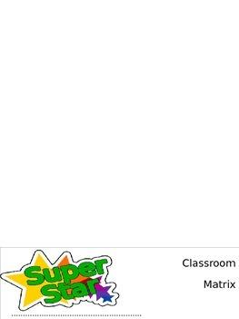 Classroom Matrix- Flip Book