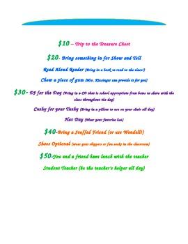 Classroom Money-Beach themed