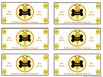Classroom Money (Bee Bucks Rewards, Classroom Management,
