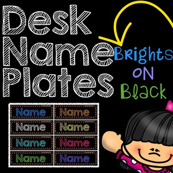 Name Plates: Brights on Black