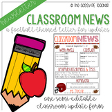 Classroom Newsletter - Football Theme