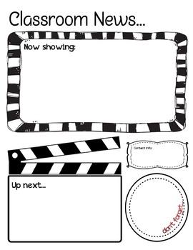 Classroom Newsletter - Movie Theme