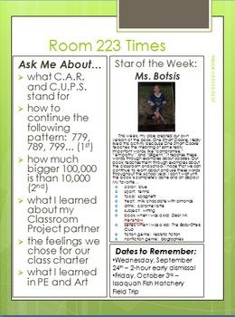 Classroom Newsletter Packet