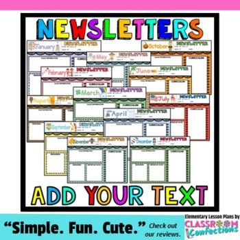 Classroom Newsletter Templates: Editable Newsletters