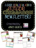 Classroom Newsletters Editable {Colorful Kids}