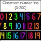Classroom Number Line {0-200}