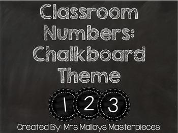 Classroom Numbers: Chalkboard Theme FREEBIE