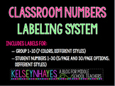 Classroom Numbers Label System