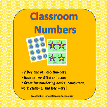 Classroom Numbers - Number Computers, Desks and More
