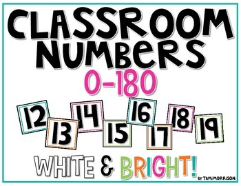 Classroom Numbers >>> bright & white!