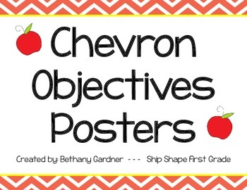 Chevron Objectives Posters