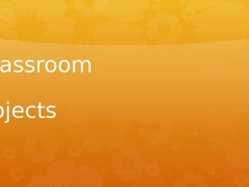 Classroom Objects - Spanish