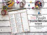 Classroom Observation Checklist Notepad 8.5x11 (JOURNEY)