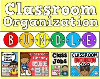 Classroom Organization Bundle for Back to School