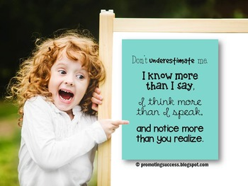 Don't Underestimate Me Quote Poster for Special Education