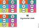 Organization Labels - Colorful Stripes Artwork ** ORIGINAL
