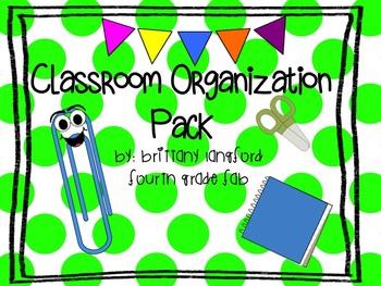Classroom Organization Pack (Polka Dots)