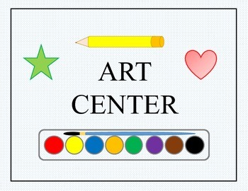 Classroom Organizational Tool: Set of Center Posters/Signs