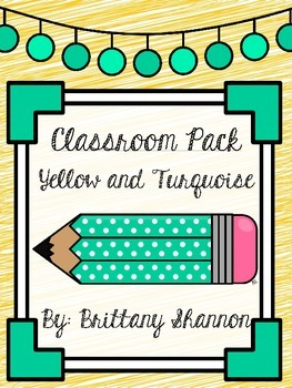 Classroom Pack- Yellow and Turquoise