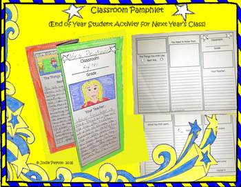 Classroom Pamphlet for End of Year  FREE!