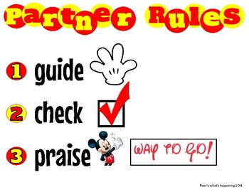 Freebie ~ Classroom Partner Rules