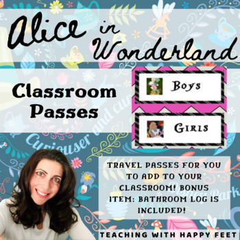 Classroom Passes Alice and Wonderland Theme