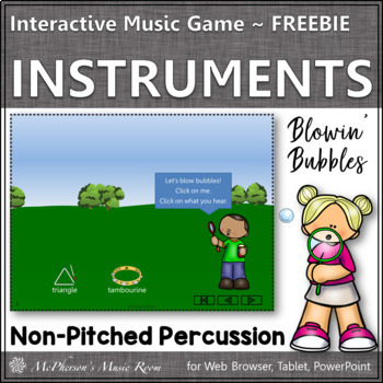 Classroom Percussion Instruments (Interactive Music Game) FREEBIE