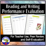 Classroom Performance Evaluation Sheets for Reading and Writing