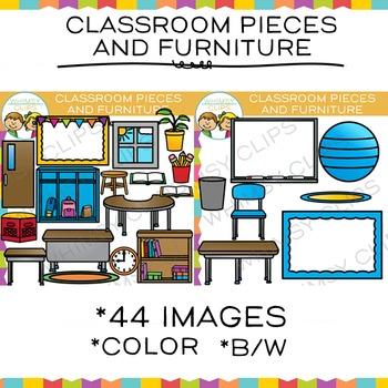 Classroom Pieces and Classroom Furniture Clip Art