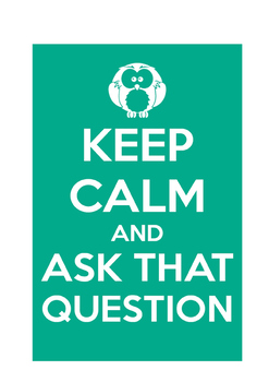 "Classroom Poster ""Ask Questions"""