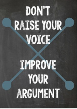 Classroom Poster: Improve your argument