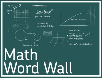 "Classroom Poster: Math Word Wall (8.5"" x 11"")"