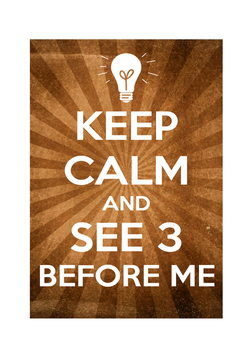 "Classroom Poster ""See 3 Before Me"""