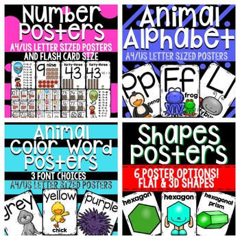 Classroom Poster and Flashcard Set