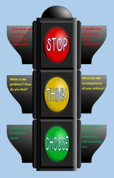 Classroom Poster: Stop, Think, Choose