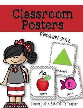 Classroom Posters {D'nealian}