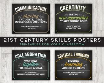 Classroom Printable Posters, 21st Century Skills (Communic