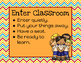 Classroom Procedure Posters: Primary Colors