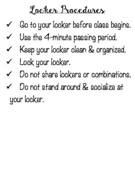 Classroom Procedures Bulletin Board