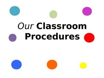 Classroom Procedures Power Point