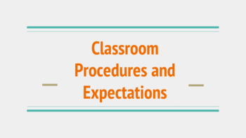 Classroom Procedures Slideshow