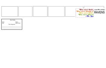 Classroom Procedures- Student Desk Placard